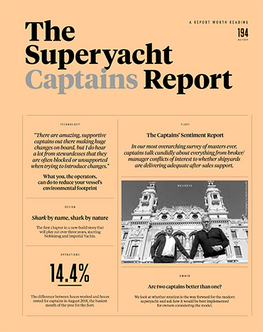 The Superyacht Report front cover of the latest issue